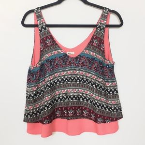 NWT Hollister Cropped Boho Tank Top Size M